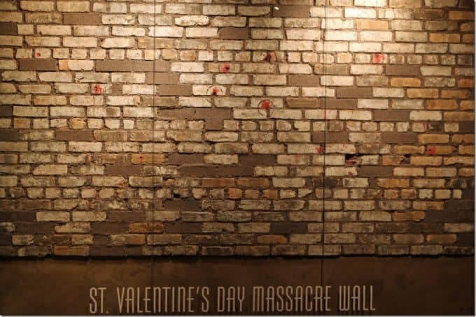 St Valentines Day Massacre Wall in the Mob Museum