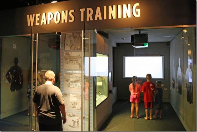 Training simulator inside the Mob Museum