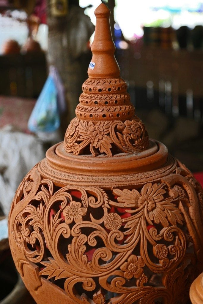 beautiful pottery at Sunday Market Thailand