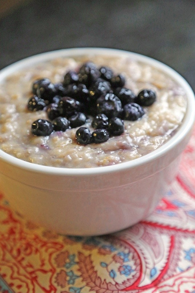 crock pot blueberry oatmeal