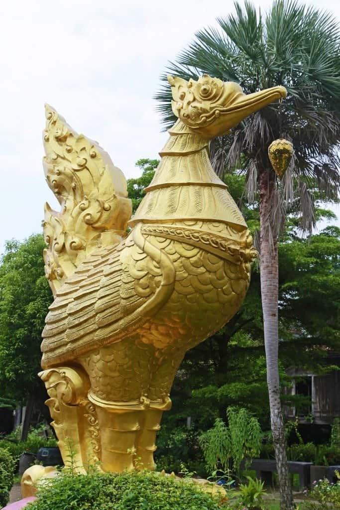 golden chicken at Sunday Market Thailand