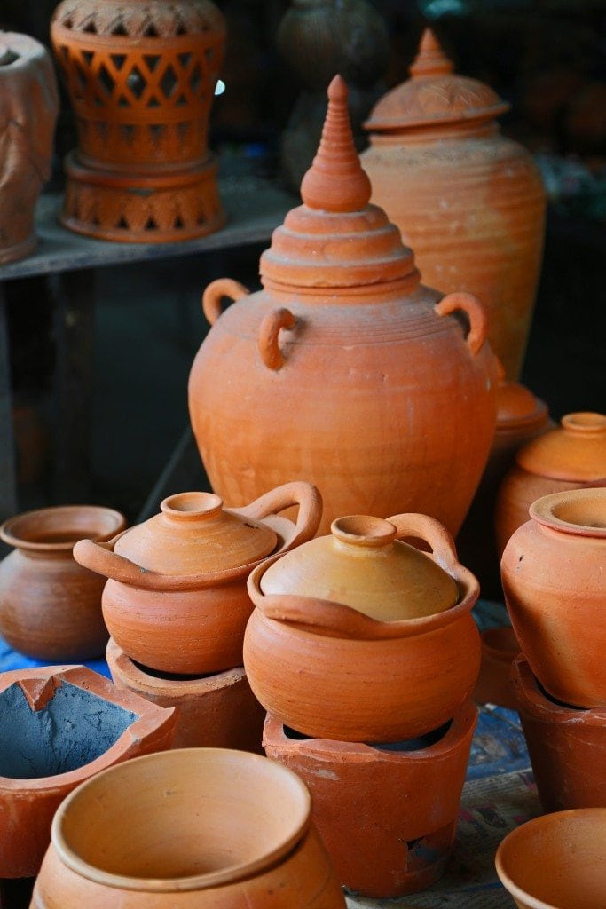 pottery at Sunday Market Thailand