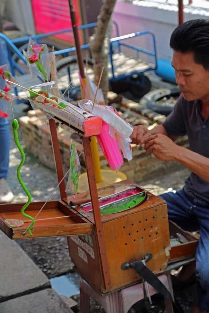 worker at Sunday Market Thailand