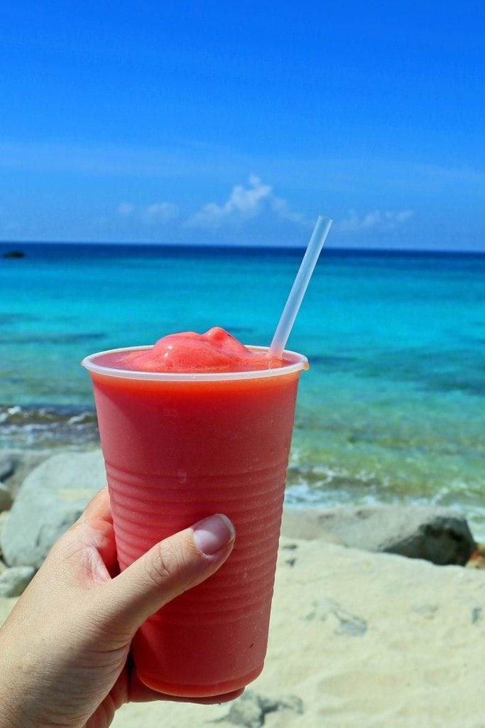 Tropical drink Maho Beach St Maarten