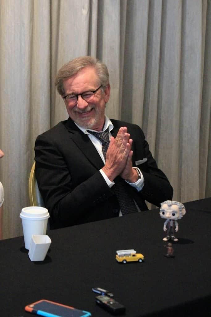 Steven Spielberg and Ruby Barnhill 2