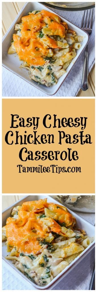 Easy Cheesy Chicken Pasta Casserole Recipe