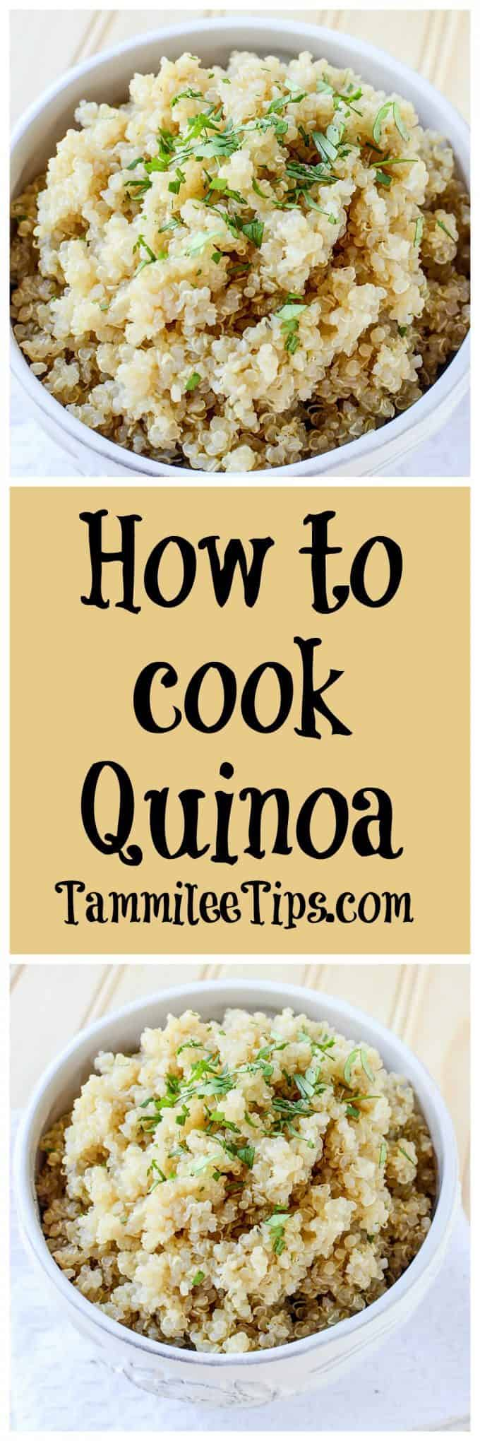 How to cook Quinoa in a Crock Pot! Let the slow cooker do all the work for you! You end up with a great side dish that is perfect for salads or any recipe. Easily adapted to use chicken stock or any other stock depending on your preference. Can be vegetarian or vegan!