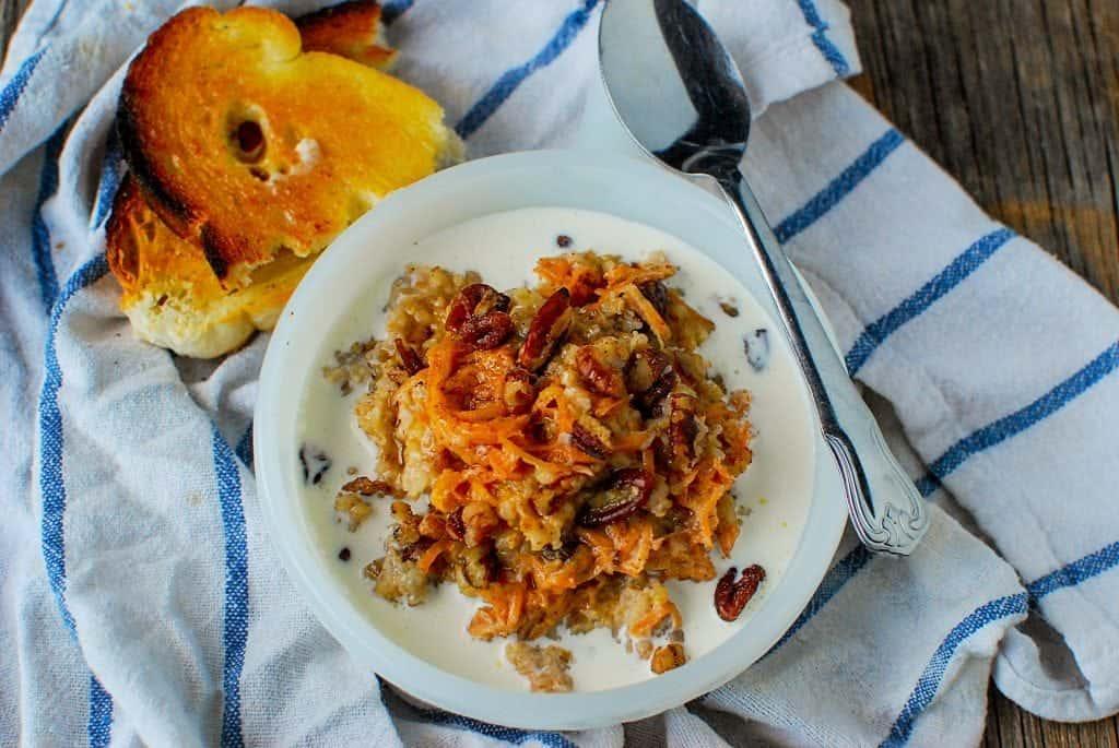 Crock Pot Carrot Cake Oatmeal Recipe