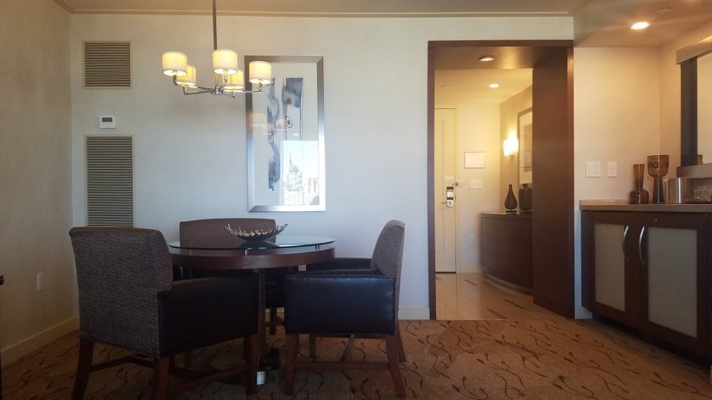 Aria Tower Suites living room