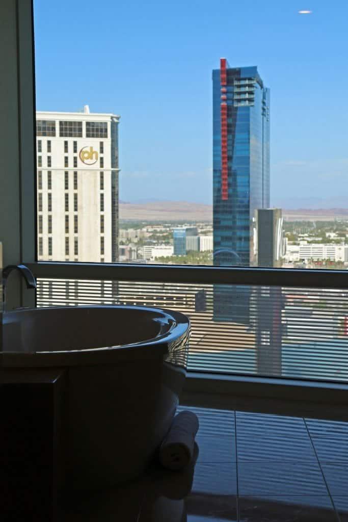 Bathtub in Aria Tower Suite