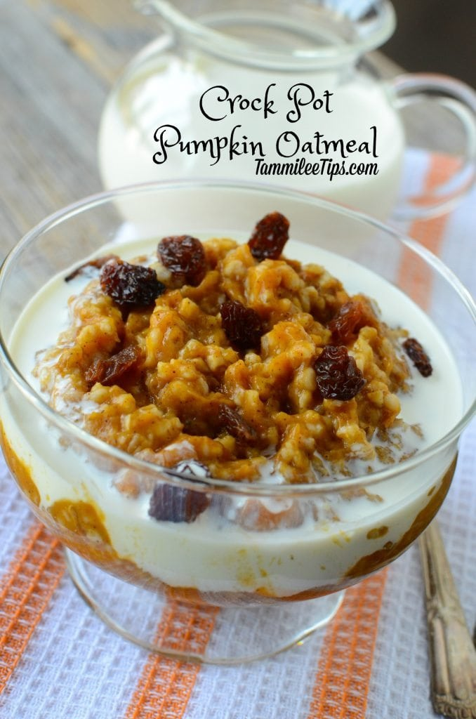 Crock Pot Pumpkin Oatmeal Recipe - Tammilee Tips