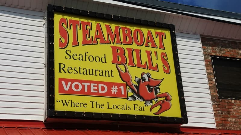 Steamboat Bill S Seafood Restaurant Lake Charles Louisiana
