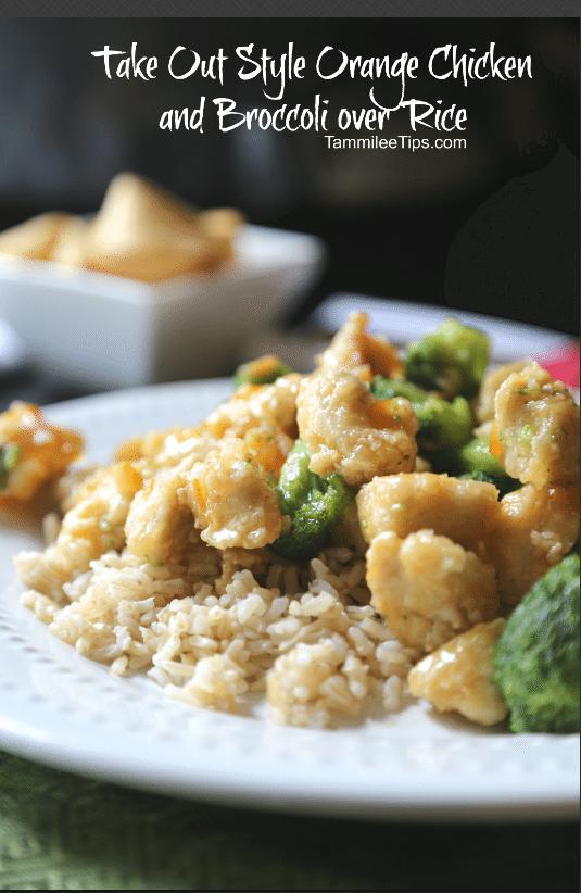 Take Out style orange Chicken and Broccoli recipe