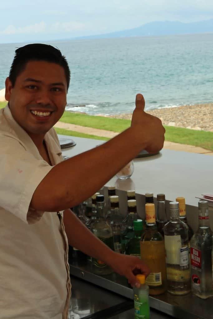 bartender-at-the-infinity-pool-villa-premeire-puerto-vallarta-mexico