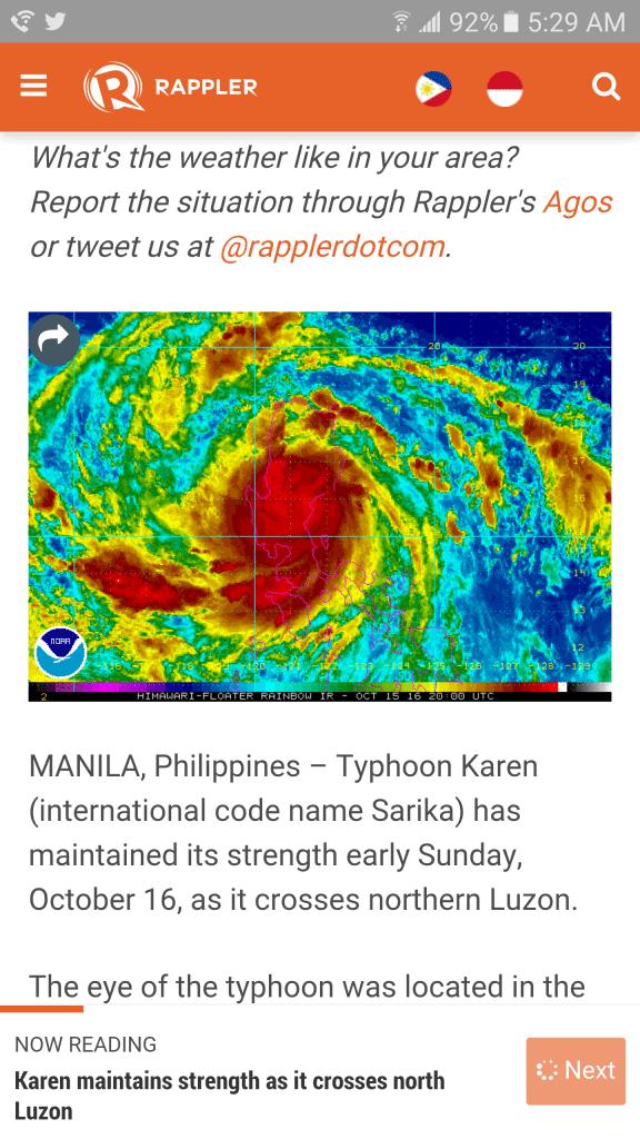 Typhoon Karen Manila