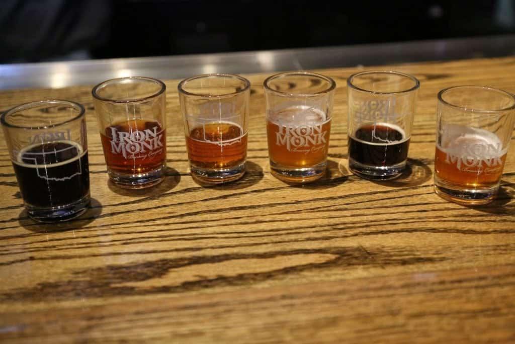 Iron Monk Brewery sampler