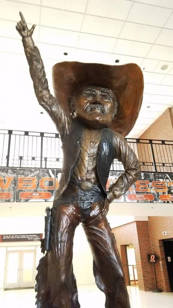 OSU Heritage Hall Pistol Pete Statue