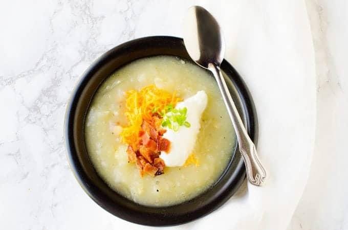 Crock Pot Creamy Bacon Potato Soup Recipe