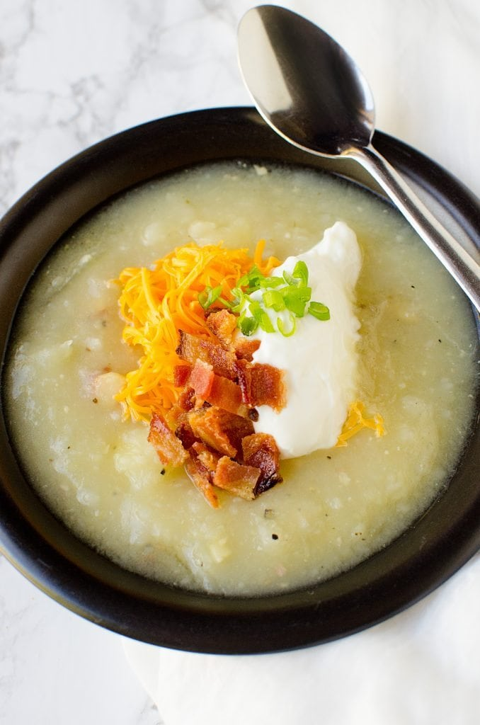 Crock Pot Creamy Bacon Potato Soup Recipe