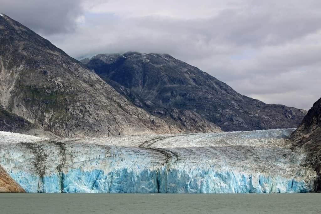 half mile wide glacier in Tracy Arm Fjord