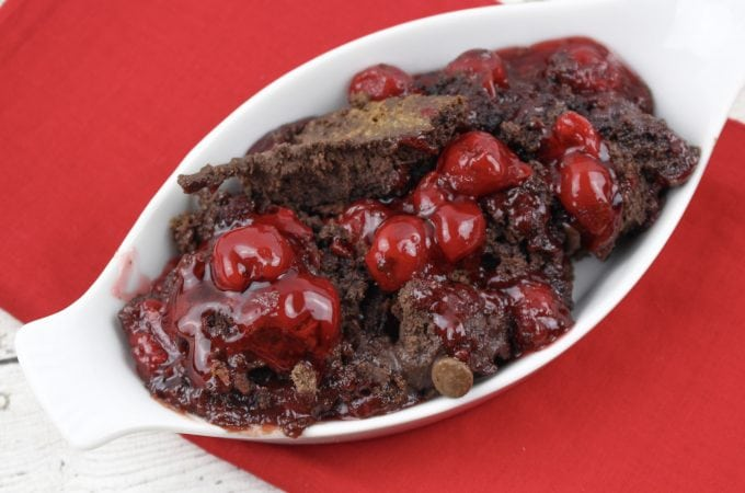 Chocolate Peppermint Cherry Dump Cake Recipe