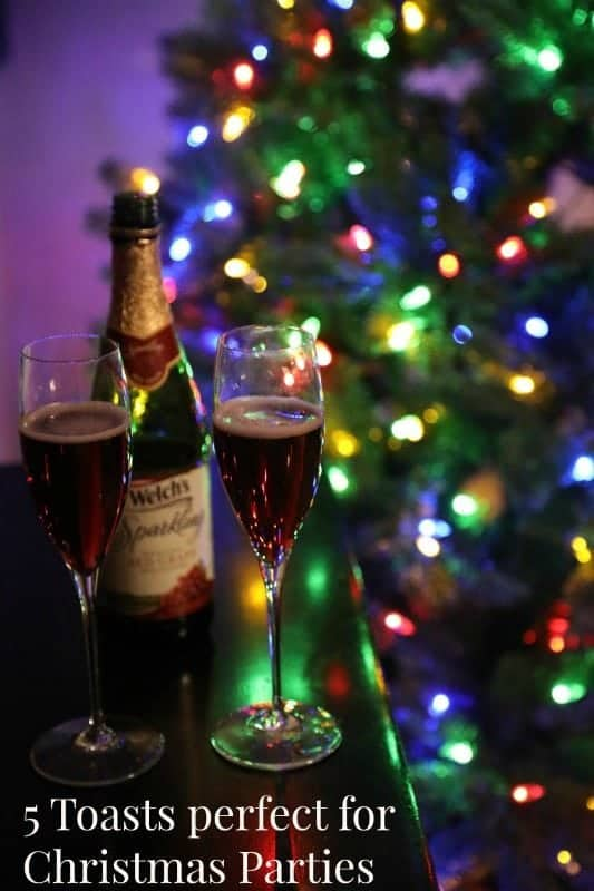 Raise your glass and give one of these 10 Holiday Christmas Party Toasts and New Years Toasts! Short simple toasts that everyone will love!