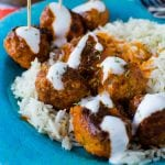 Simple Crock Pot Slow Cooker Buffalo Chicken Meatballs Recipe is perfect for your Super Bowl Football Party or any day you need a good appetizer recipe. These crockpot meatballs are also great over rice for dinner.