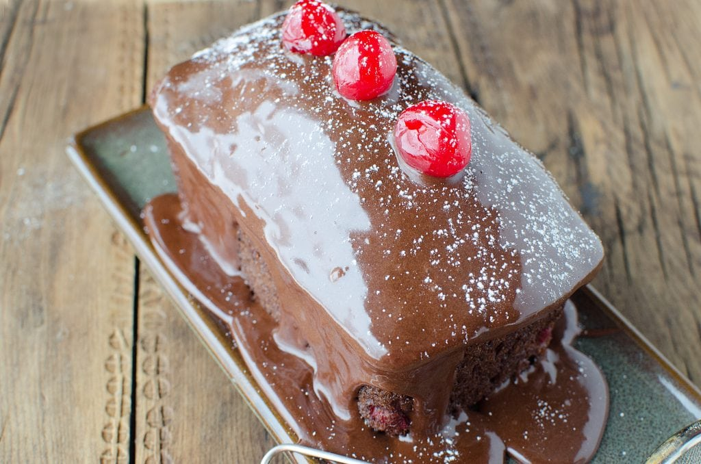 Easy Mini Black Forest Cakes Recipe made with cake mix and cherries. Simple to bake but tastes amazing! Great for holiday parties, tea parties, date nights and more