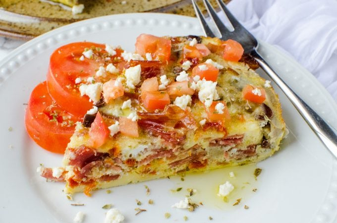 Crock Pot Greek Frittata Recipe