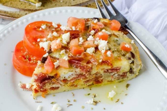 Crock Pot Greek Frittata Recipe
