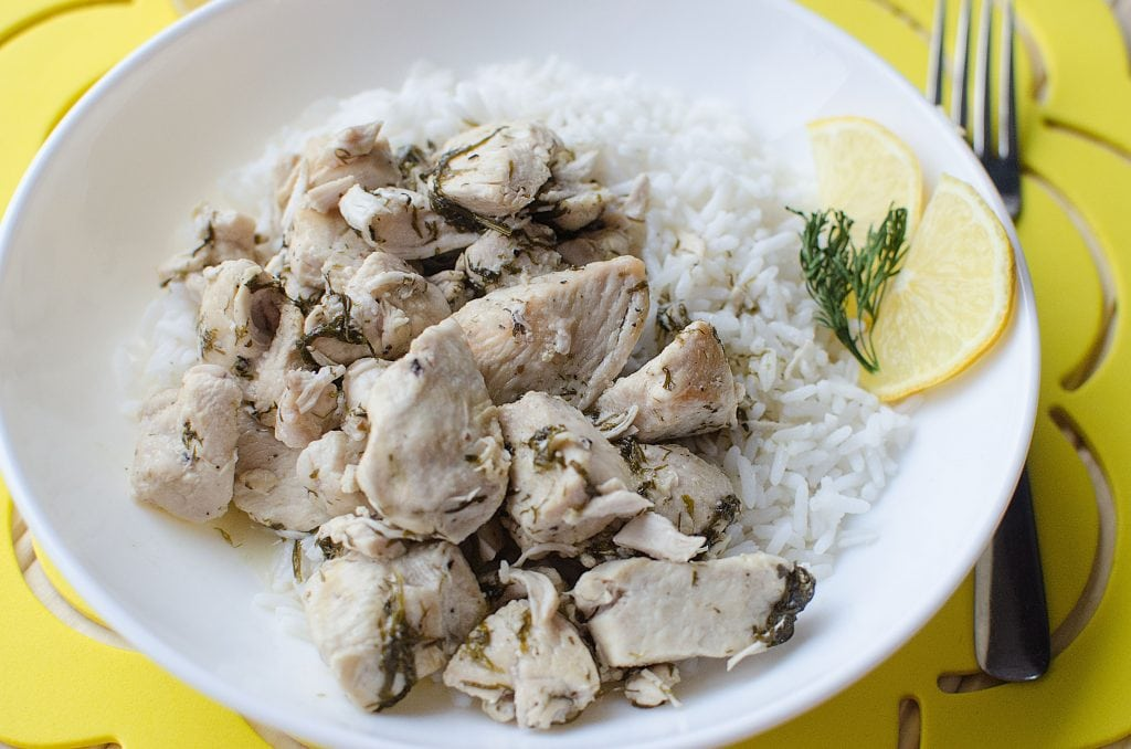 Crock Pot Lemon Dill Chicken Recipe makes great family dinners! Use leftovers in salad for lunch the next day. Serve with pasta or rice.