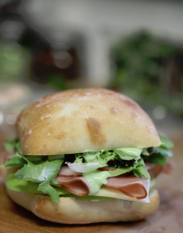 Ham and Swiss Sandwich with Garlic Aioli Recipe
