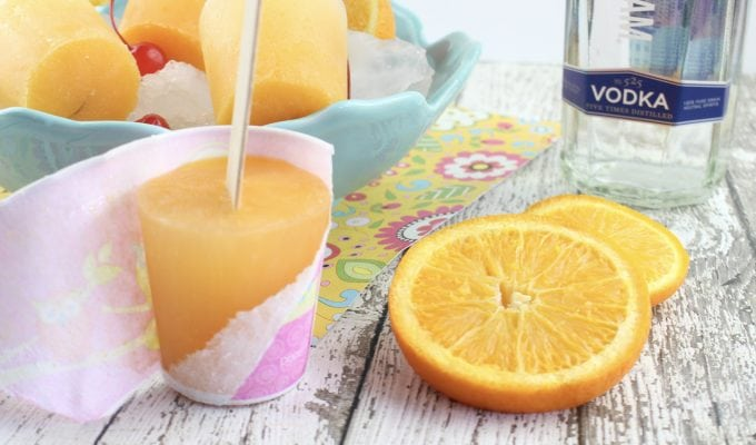 Alcoholic Adult Screwdriver Popsicle Recipe
