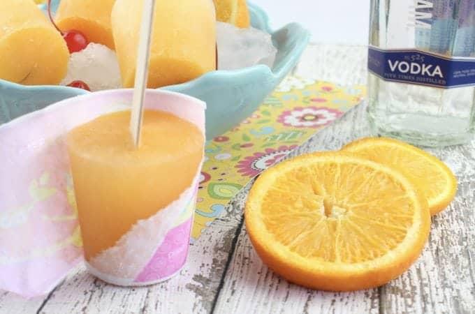 Alcoholic Adult Screwdriver Popsicle Recipe