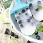 Blueberry Mojito Popsicle