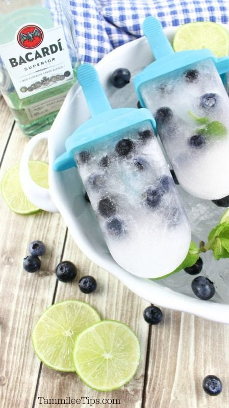 Blueberry Mojito Popsicle