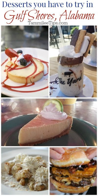 Desserts you have to try at Restaurants in Gulf Shores Alabama! Including LuLus's Key Lime Pie, The Yard Shakes and more! #GulfShores #alabama Travel