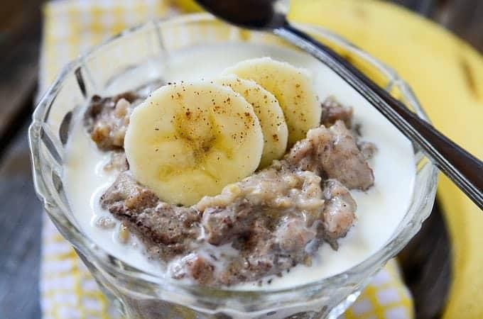 Slow Cooker Crock Pot Banana Bread Oatmeal Recipe