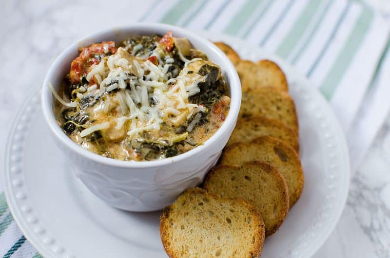 Slow Cooker Crock Pot Spinach Artichoke Dip with Sun-dried ...