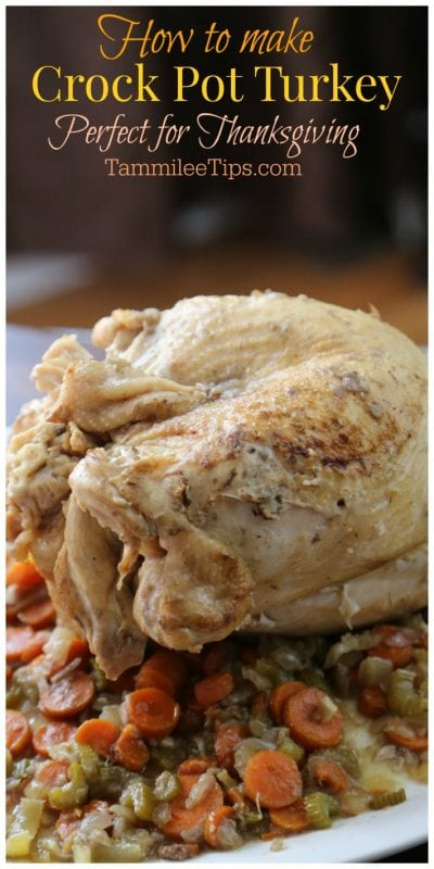 Slow Cooker Crock Pot Turkey Recipe perfect for Thanksgiving! The leftovers make amazing lunch and dinners for the entire family. So easy to make and tastes amazing.
