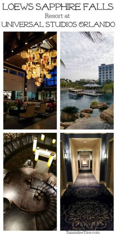 Loews Sapphire Falls Resort Review and Photo tour.  Plus tips on making the most of the benefits for staying at a Universal Orlando Resort Hotels.