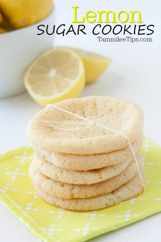 Lemon Sugar Cookies that easy to make and taste amazing!