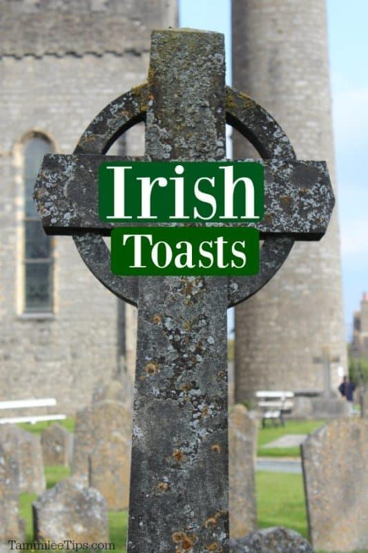 Irish cross with Irish Toasts written across it